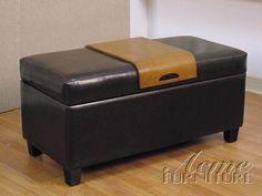 Mavis Bycast Storage Bench by Acme Furniture