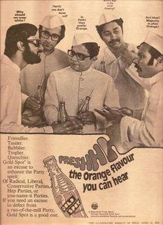 "1974 Rare Gold Spot Ad - ""Are' bhai!"" - U Turn Vintage Advertising Posters, Old Advertisements, Vintage Posters, Indian Pictures, Rare Pictures, Poster Ads, Poster Prints, Film Posters, Vintage Prints"