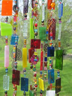 Stained Glass Art Wind Chime Multicolor by glasscrushdesigns, $65.00