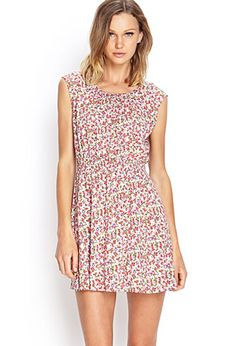 Ditsy Floral Fit & Flare Dress | FOREVER 21 - 2000062130