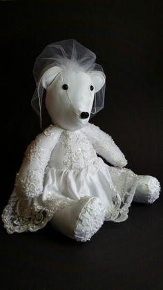 Wedding Dress Memory Bear #weddingdress #wedding #preservingmemories…
