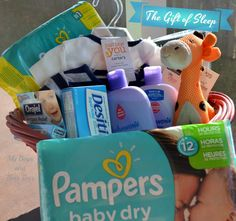 Enter to win a Pampers basket full of stuff to help Baby and mama get some good sleep. This basket also includes a 50.00 gift card
