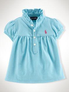 Preppy toddler Polo Shirt - Infant Girls Polos - RalphLauren.com