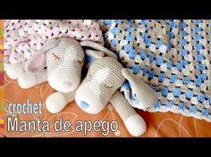 Colcha con perritos dormilones o manta de apego tejida a #crochet (cuadrado granny y amigurumi) - YouTube