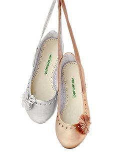 Bailarinas con flor para niña del 26 al 38 #Zapatos para #ceremonias