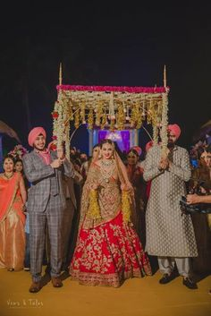 Meet Bavleen and Kushal who had an amazing destination wedding in Goa which was so beautifully planned and looked perfect as well as trending. Desi Wedding Decor, Wedding Mandap, Indian Wedding Decorations, Wedding Garlands, Wedding Canopy, Indian Wedding Photos, Indian Wedding Wear, Indian Bridal, Indian Weddings