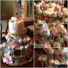 Shabby chic, vintage cake and cake pops!