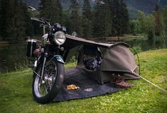 Goose Camping System for Motorcycle for Adventure Lovers Goose Camping System is designed and built with adventure in mind. Enjoy cruising down the road with your motorcycle, anywhere, this camping # Camping Accessories, Motorcycle Accessories, Tent Camping, Camping Gear, Outdoor Camping, Camping Essentials, Camping Water, Camping Packing, Camping Outdoors