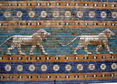 The Ishtar Gate was the 8th gate to the inner city of Babylon. It was constructed in 575 BC by King Nebuchadnezzar II Dedicated to the Babylonian goddess Ishtar. Through the gate ran the Processional Way, which was lined with walls covered in lions on glazed bricks (about 120 of them). Ishtar Gate depicts only gods and goddesses which include Ishtar Adad and Marduk. Statues of the deities were paraded through the gate and down the Processional Way each year during the New Year's…