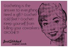 LOL....crochet! alieblankets.etsy.com
