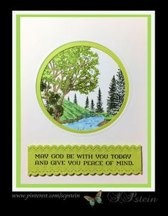 Sympathy card using Stampin Up Peaceful Place, colored with markers.