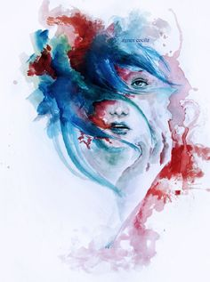 Very interesting black and white or colorful paintings by Agnes Cecile