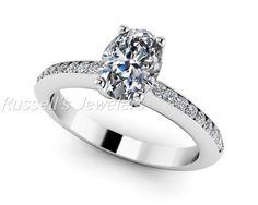 Beautiful 1 carat Forever Brilliant Oval Cut by RussellsJewelers