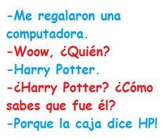 computadora de Harry potter
