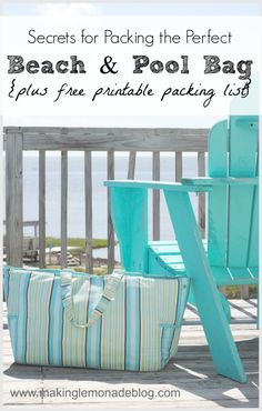 Never get stuck without something you need at the beach or pool again! LOVE these tips for packing the perfect beach bag, plus a FREE PRINTABLE beach/pool bag packing list to check each time you leave the house.  #summer #kids #beach via www.makinglemonadeblog.com