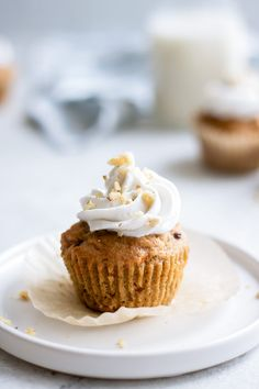 vegan carrot cake cupcakes with coconut whipped cream