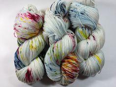 MCN Pampered Sock 100 grams Color Fireworks by HauteKnitYarn