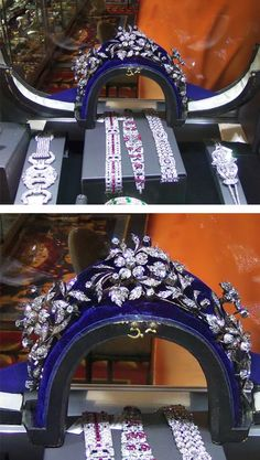 Formerly in the collection of Countess Costanza Pasolini Zanelli Magnaguti. Diamond tiara, Late 19th century. Designed as three floral sprays, set with cushion-shaped, circular-cut and rose diamonds, inner circumference approximately 226mm, each spray detachable and may be worn as a brooch, fitted case. On view at the Las Vegas Antique Jewelry Watch Show.