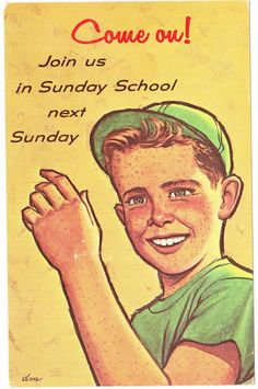 "Papergreat: Three vintage ""We Missed You at Church"" postcards"