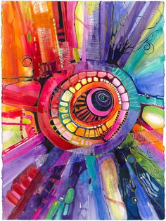 Alice's Adventures ~ mixed media art by Kathleen Mattox ~ love the colors and textures. ~wtb