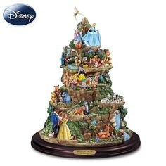 Amazon.com: The Wonderful World Of Disney Sculpture: Tabletop Disney Decoration by The Bradford Editions: Home & Kitchen