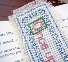 Once Upon a Time cross-stitch bookmark Free pattern to download Does anyone cross-stitch anymore?