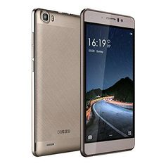 """5.5"""" Unlocked Cell Phone Dual Sim Quad Core-JUNING Android 5.1 Smartphone Gold"""