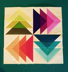 "Fantastic ""Spinning Transparent Geese"" block by Jackie Nixon-Fulton."