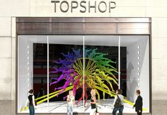 NEON window display design for Topshop, Regent Street, London _ RIBA Regent Street Windows Project 2013