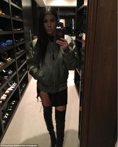 Sultry: Kourtney Kardashian showed off another sexy look on Instagram on Wednesday wearing...