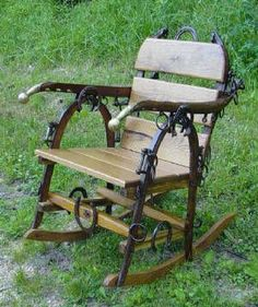 horse hame furniture rustic country horseshoes