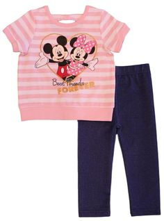 Disney Baby Clothes Girl, Baby Disney, Bow Back Top, Jeggings, Minnie Mouse, Girl Outfits, Pajama Pants, Pullover, Pool Houses
