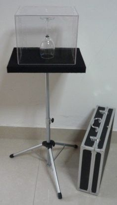 Glass Breaking Table and aluminium case magic table Combination Trick, close-up,illusions, fire magic,Accessories,mentalism