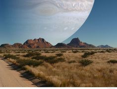 If Jupiter was the same distance away from Earth as the Moon, we'd see it like this...