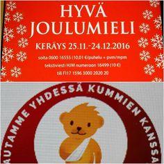 HYVÄNTEKEVÄISYYS...JOULU VALMISTELUT, Muista Läheisiä&Ystäviä ja Anna aikaa Perheelle. MUISTA Myös Vähäosaiset Ihmiset. Tuen ja Osallistun HYVÄMIELI ja LASTENKLINIKOIDEN KUMMIT mm. MUSIIKKI Konsertti TV 17.12.2017 Seuraa, Tykkään ja SUOSITTELEN. #elämäntapa #suomi #hyväntekeväisyys #lastenklinikoidenkummit #hyvämieli #joulu #valmistelut #muista #annaaikaa ##perhe #suosittelen #vähäosiset #sairaat #ihmiset #lapset ❤🌍☺ℹ🎵