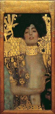 Gustav Klimt - Judith, 1901  Öl und Goldauflage auf Leinwand  84 x 42 cm, Belvedere Wien