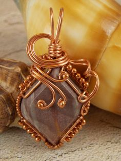 Wonderstone Copper Wire Wrapped Pendant | Flickr - Photo Sharing!
