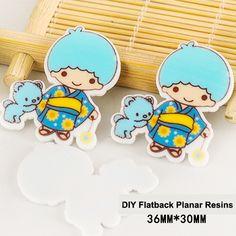 50pcs Kawaii Cartoon Little Twin Stars KiKi Flatback Resins DIY Crafts Planar Resin for Home Decoration Accessories DL-485