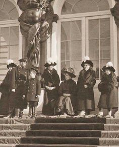 The Romanovs: The Imperial family at Catherine Palace, 1912.