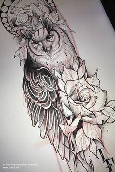 Owl Tattoo Design, Tattoo Sleeve Designs, Tattoo Designs For Women, Sleeve Tattoos, Tattoo Sketch Designs, Life Tattoos, Body Art Tattoos, Cool Tattoos, Tattoo Ink