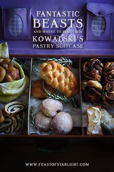 Fantastic Beasts and Where to Find Them: Jacob Kowalski's Lemon Meringue Tart and Chocolate Babka inspired by his pastry suitcase in the movie. Lemon Meringue Tart, Harry Potter Food, Fantastic Beasts And Where, Food Inspiration, Cooking Recipes, Fun Recipes, Party Recipes, Holiday Recipes, Cooking Tips