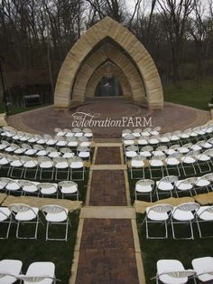 @Celebrationfarm - The #outdooramphitheater at the #celebrationfarm is a beautiful space to #exchangevows!  #iowawedding #iowacity #thecelebrationfarm #wedding #diywedding #outdoorwedding