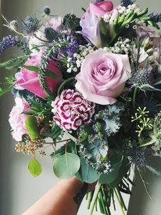 Purple & Lavender Wildflower Bridal Bouquet :: The Vines Flower & Garden Shop
