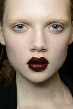 super dark lipstick: Anteprima FW 14 Backstage