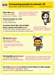 Easy to Learn Korean 826 - Comparing People to Animals (Part Two) Chad Meyer and Moon-Jung Kim EasytoLearnKorean.com