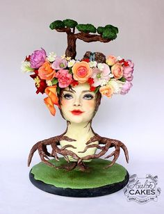 Mother Nature sculpture cake