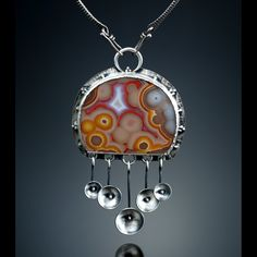 Agua Nueva Agate Centerpiece. Fabricated Sterling Silver. www.amybuettner.com https://www.facebook.com/pages/Metalsmiths-Amy-Buettner-Tucker-Glasow/101876779907812?ref=hl https://www.etsy.com/people/amybuettner http://instagram.com/amybuettnertuckerglasow