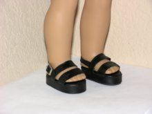 Black Platform Sandals 18 inch American Girl Dolls M. Alexander