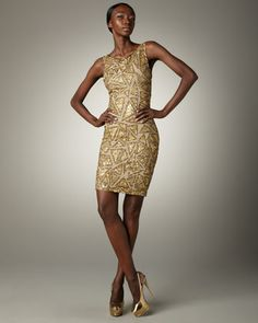 Hanlin Sequin Dress by Alice + Olivia at Neiman Marcus.