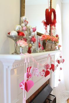Woven Home: Valentine's Day Mantel
